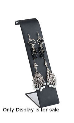 Leatherette Earring Displayer In Black 2 W X 3 12 L X 7 12 H Inch - Case Of 10