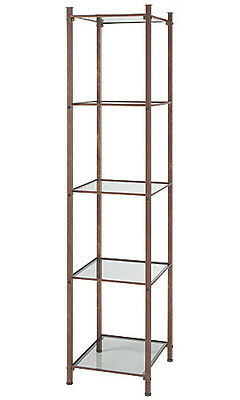 Open Display Tower Cobblestone 18 W X 18 X 77 H Shelves Boutiques Salons