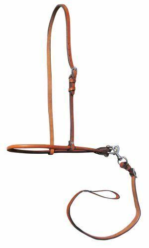 Western Saddle Horse Premium Leather Tie Down / Nose Band Medium Oil Gymkhana
