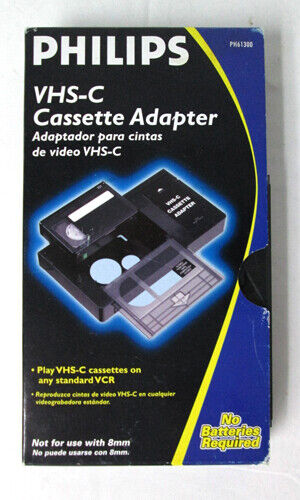 Phillips VHS-C Camera to VHS Cassette Player Adapter PH61300
