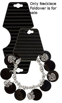 Necklace Foldover In Black Stripes 2-14w X 5-14h Inches - Case Of 50