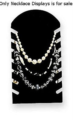 Slotted Necklace Display Easel In Black 7w X 14h Inches - Lot Of 10
