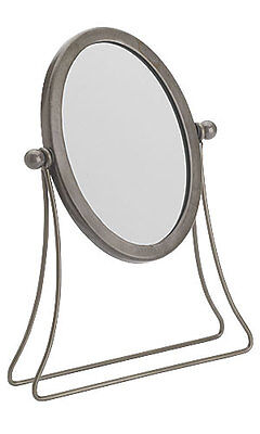 "Retails Raw Steel finished Boutique Countertop Mirror 4"" x 6"""