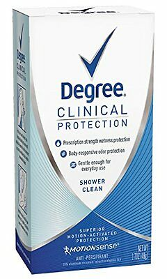 Degree Clinical Protection Antiperspirant Deodorant Shower Clean 1 7Oz Each