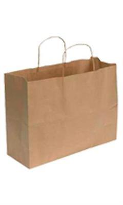 Paper Shopping Bags 250 Kraft Gift Merchandise 16 X 6 X 12 H Recycled Retail