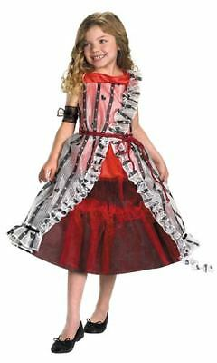 Girls Alice in Wonderland Costume Live Movie 7/8 Medium Red Court Dress NEW
