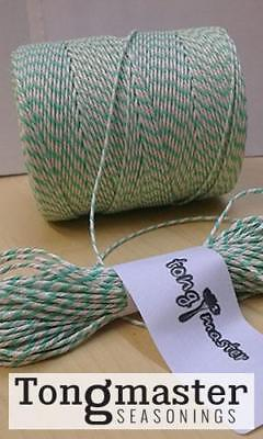 Green And White Bakersbutcherscateringstring Twine - 300m Spool