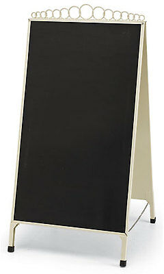 A-frame Chalkboard Sign Ivory Finish Double Sided Magnetic Sidewalk Chalk Board