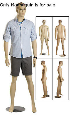 New Retails Fiberglass Male Mannequin With Blonde Hair And Detachable Arms 38