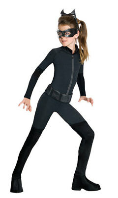 Girls Black Catwoman Catsuit Halloween Costume](Catwoman Halloween Costume For Girls)