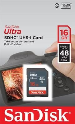 Lot of 2 SanDisk Ultra 16GB x2= 32GB Class 10 48MB/s SD SDHC SDSDUNB-016G Camera for sale  Shipping to India