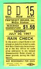 Baseball Pawtucket Red Sox Vintage Ticket Stubs