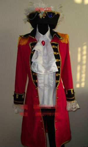 Hetalia Axis Powers APH Arthur Kirkland England UK Pirate Costume Cosplay Cos