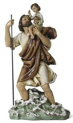 "New! 11"" St. Saint Christopher Patron of Travelers Statue Figurine FREE SHIPPING"