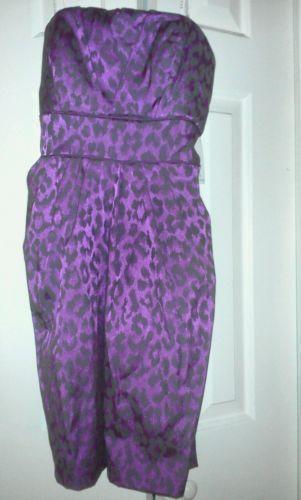 Purple Leopard Print Dress Ebay