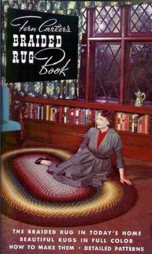 Braided Rug Book, Fern Carter, braiding rugs, patterns  Used, vintage  B