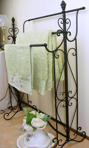 Wrought Iron Towel Rack Ebay