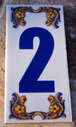 Mediterranean tile ebay for Mediterranean house numbers