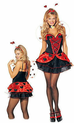 NEW Shirley of Hollywood 7674 Love lady Bug Costume Adult Cosplay USA S/M, M/L (Hollywood Usa Kostüme)