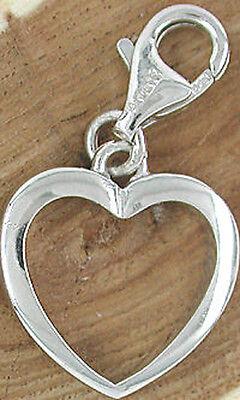 Charms Herz Anhänger Echt Silber 925 Neuware Damen Kinder Silberanhänger