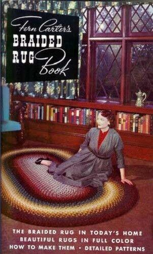 Braided Rug Book, Fern Carter, braiding rugs, patterns  New vintage 1953