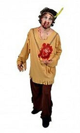 Morph Suit Beating Heart Indian - Halloween - Fancy Dress - Horror - Mens Large