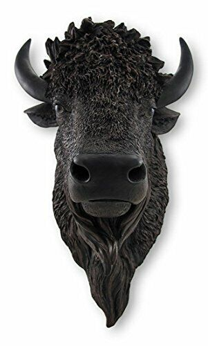 DWK American Bison Wall Mounted Faux Buffalo Head   Wall Art for your Home
