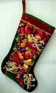 Groovy Needlepoint Christmas Stocking Ebay Easy Diy Christmas Decorations Tissureus
