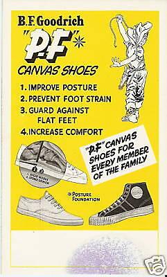 Vintage Advertising Blotter 1950's P F FLYERS Sport GYM Shoe HI HIGH TOP SNEAKER