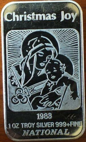 1 Oz Silver Bar Christmas Ebay