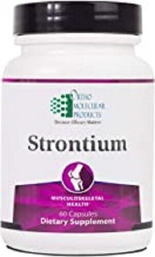 NEW Ortho Molecular STRONTIUM Musculoskeletal Health Supplement 60 caps 2/22