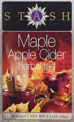 Maple Apple Cider Herbal Tea Stash Tea 18 Bag
