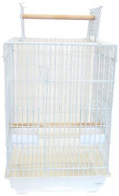 YML 3/4-Inch Bar Spacing Open Top Small Parrot Cage, 18-Inch by 18 by 27-Inch...