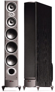 Polk audio towers and subwoofer