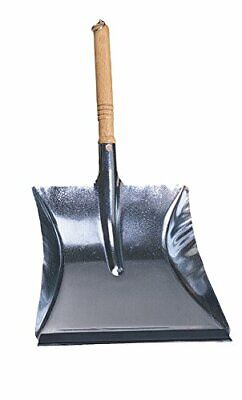 Redecker Dust Pan with Oiled Wooden Handle 17-3/4-Inches Zinc-Coated Steel