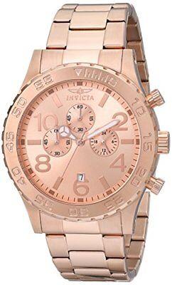 Chronograph Rose Gold Plated - Invicta Men's 1271 Specialty Chronograph Rose Gold Ion-Plated Watch