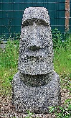 OSTERINSEL KOPF 61 cm HOCH FIGUR STEINGUSS HOHLGUSS FROSTFEST APL-Moai-060af