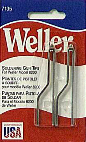 WELLER 7135W Standard Solder Tip Replacement for 8200 Soldering Gun, 2 per Pack