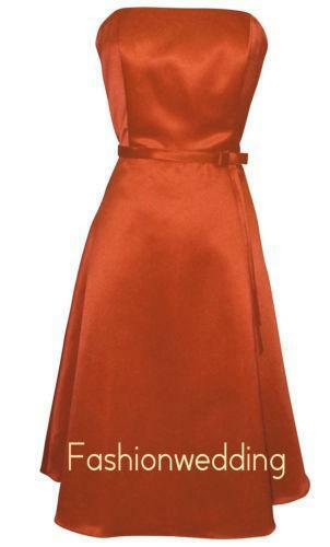 Burnt Orange Bridesmaid Dresses Ebay