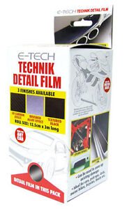 Car Interior Exterior Textured Black Detail Protection Styling Vinyl Film Ebay