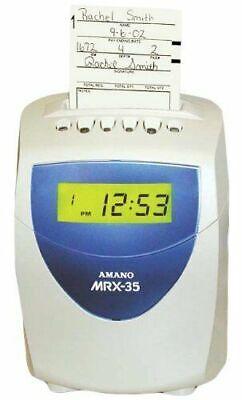 Amano Amano Mrx35 Time Clock Recorder System Mrx-35a140 Clock System Used Good