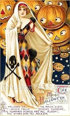 Magic Halloween Masquerade Witch Quilt Block Multi Szs FrEE ShipPinG WoRld WiDe](Homemade Mask Halloween)