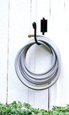 Wrought Iron Mountable Garden Hose Holder Black Hook 8