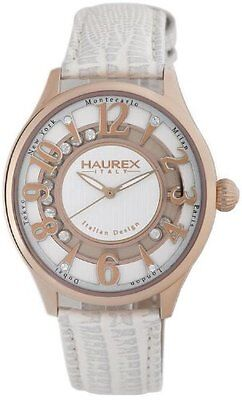 Gold Tone Floating Crystal Watch - Haurex Italy Women's FH336DSH Preziosa Floating Crystals Rose Gold Tone Watch
