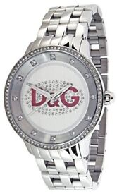 D&G Unisex Prime Time Watch with Crystal Dial (Used)