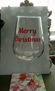 MERRY CHRISTMAS VINYL STICKERS FOR WINE GLASS X 12
