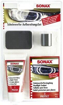 SONAX SCHEINWERFER AUFBEREITUNGSSET 89ML POLITUR VERSIEGLUNG 04059410