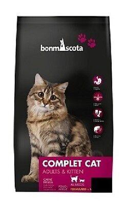 Weizenfreies Katzenfutter/Trockenfutter BonmAscota COMPLET CAT - (10 Kg)