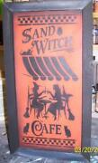 Cafe Wood Sign