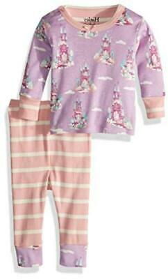 Hatley Baby Girls Organic Cotton Pajama Sets,, Castles in the Sky, Size...